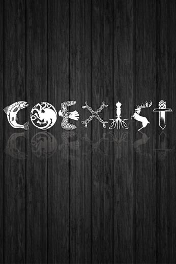 coexist game of thrones background smartphone lerageshirtsjpg