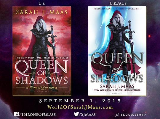 NEW COVER REVEAL FOR QUEEN OF SHADOWS BY SARAH J MAAS Silent