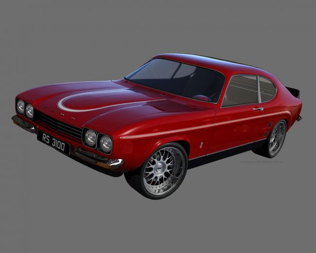 D M Multimedia 3D Cars Capri MKI Capri MK1 Wallpapers