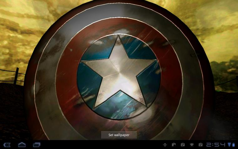 Android Wallpaper Review Captain America Live Wallpaper Android