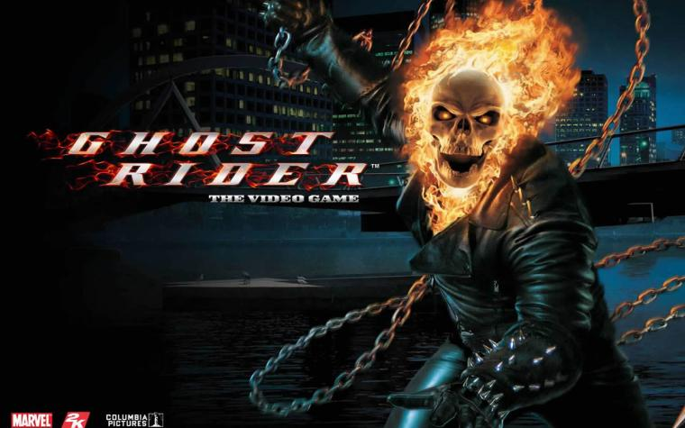 Flaming Skull   Superhero Games Wallpaper Image featuring Ghost Rider
