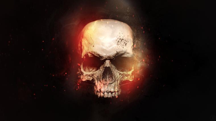 skull in flames wallpaper 1080p by foehngfx customization wallpaper