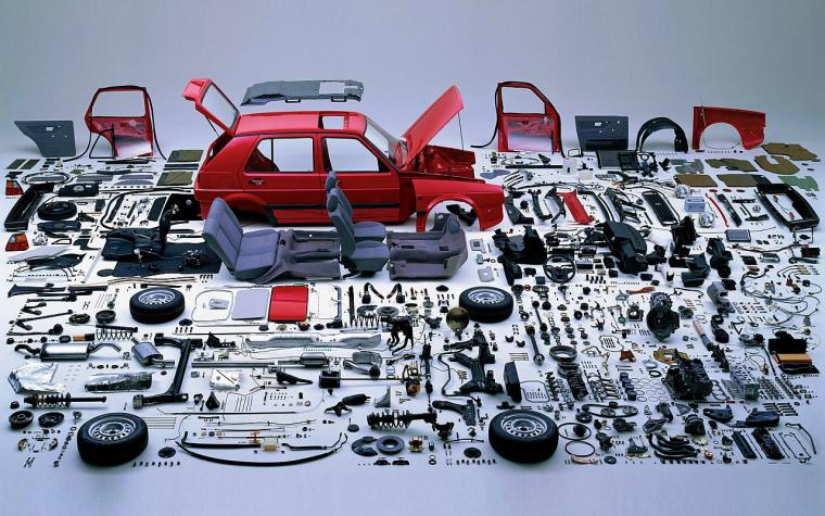 Disassembled Golf Mk1 Wallpaper 1280x800 ID51720