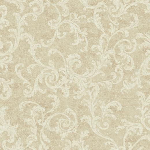 Beige and White Textured Scroll Wallpaper   Wall Sticker Outlet