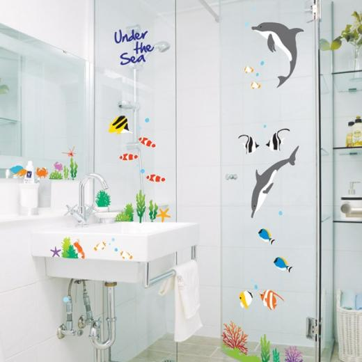 Details about Removable Wall Glass Sticker Wallpaper Bathroom Decal
