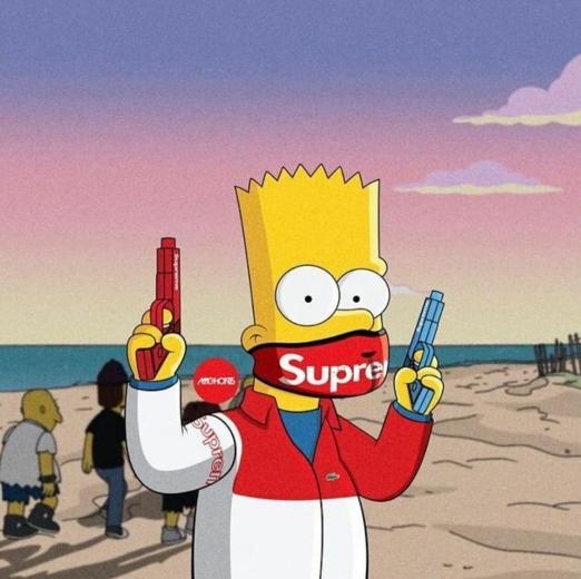 65 BAPE Bart Simpson Wallpapers   Download at WallpaperBro