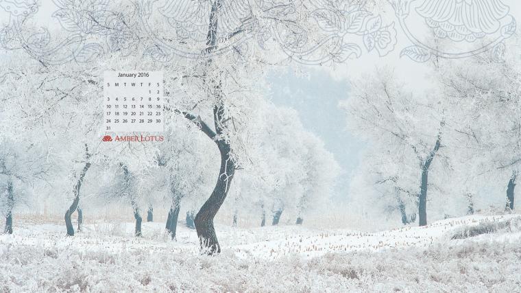 Desktop Wallpaper Calendar January 2016 to Download