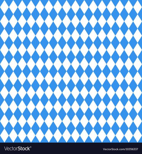 Oktoberfest blue rhombus background Royalty Vector