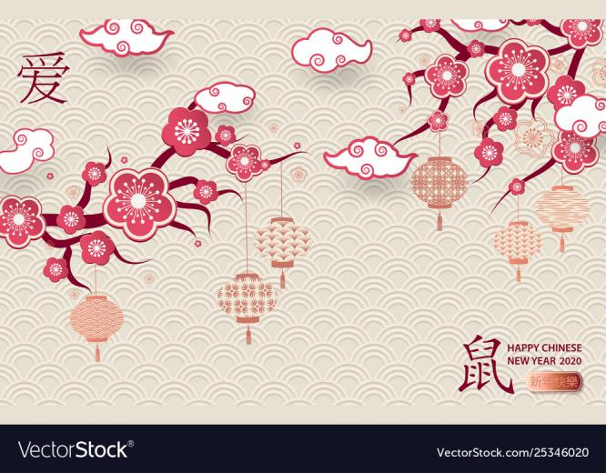 Happy chinese new year 2020 Royalty Vector Image