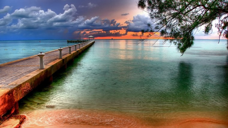 Flyover Beach Nature HD Widescreen Wallpapers for Laptop and PC