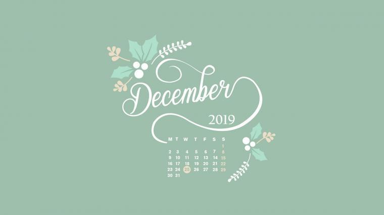 December 2019 Desktop Calendar HD Wallpaper