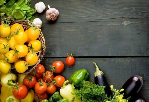 Fruit and Vegetables Themed Wallpaper Professional Wallpaper