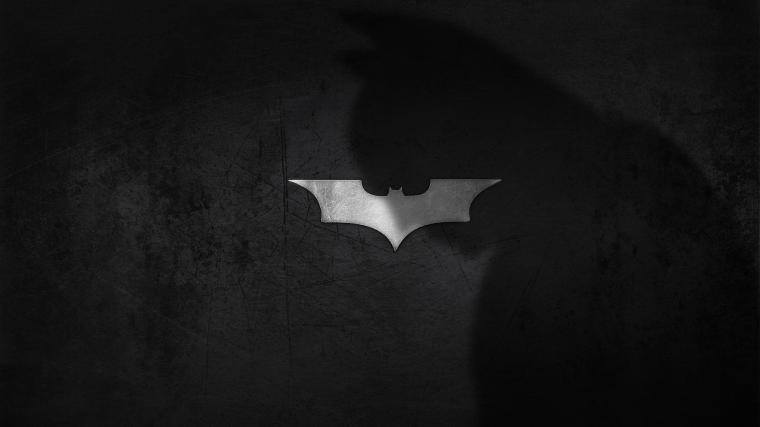 Download Wallpaper 3840x2160 shadow logo batman dark knight 4K
