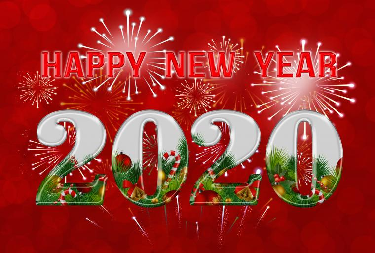 Happy New Year 2020 Red Background Gallery Yopriceville   High