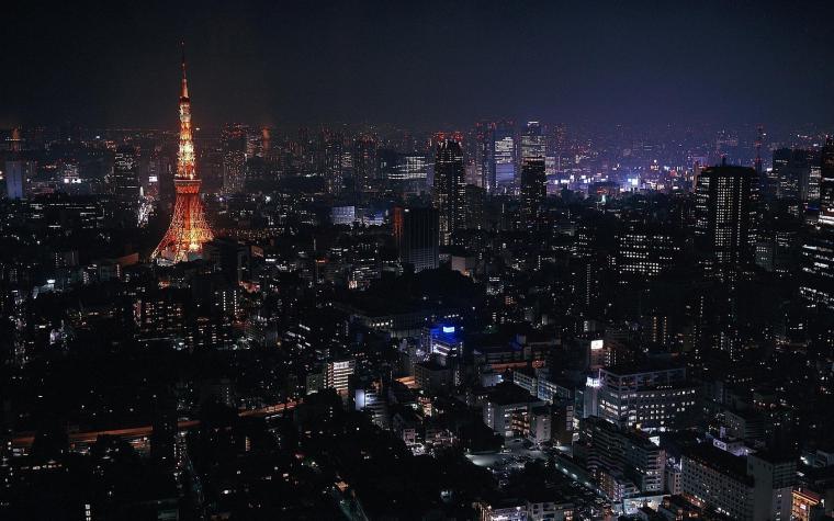 tokyo at night wallpaper 1024x768