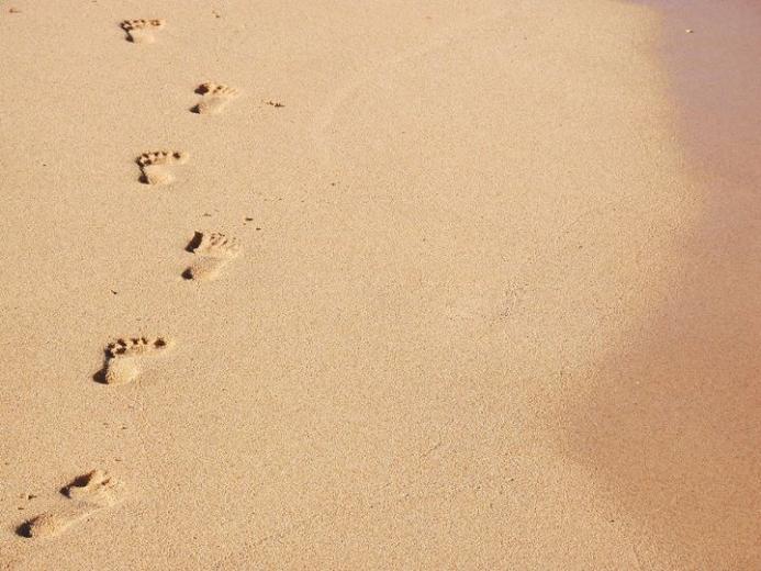 Footprints The Sand Poem