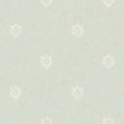Blue Velvet Floral Spot Wallpaper   Wall Sticker Outlet