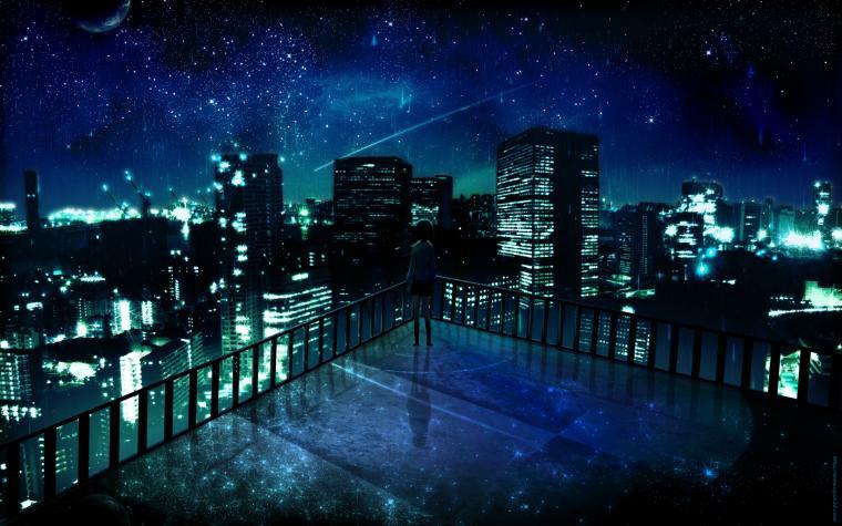 Download Manga Night City Lala Sama Club Ados Design Wallpaper