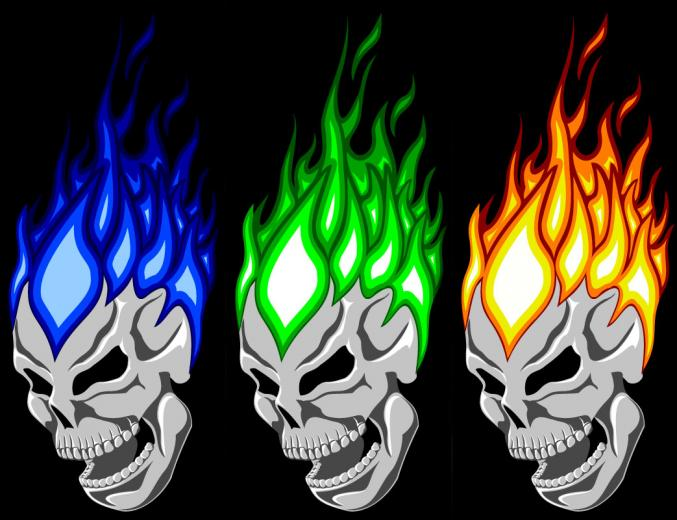 Green Flaming Skull Wallpaper Hd Images Pictures   Becuo