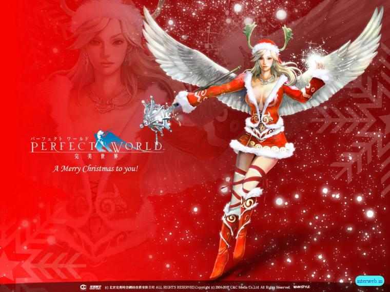 Christmas Red Angel Background Wallpapers Angel