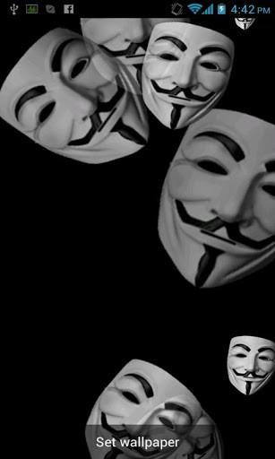 Download Anonymous Live Wallpaper for Android by badcompanyapps