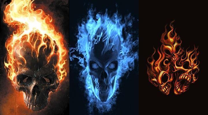 Hd Wallpapers Flaming Skulls 450 X 339 93 Kb Jpeg HD Wallpapers