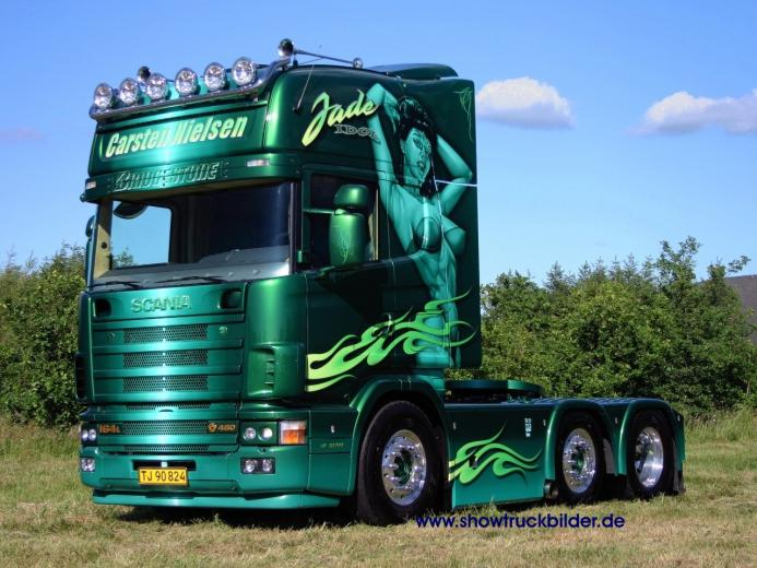 HQ green trailer Scania Trucks Wallpaper Num 66 1280 x 960 4926 Kb