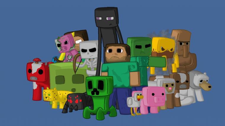 Wallpaper 2048x1152 Minecraft Characters Game Pixels Java HD HD