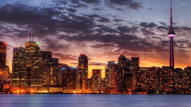 Toronto skyline wallpaper   World wallpapers   23567