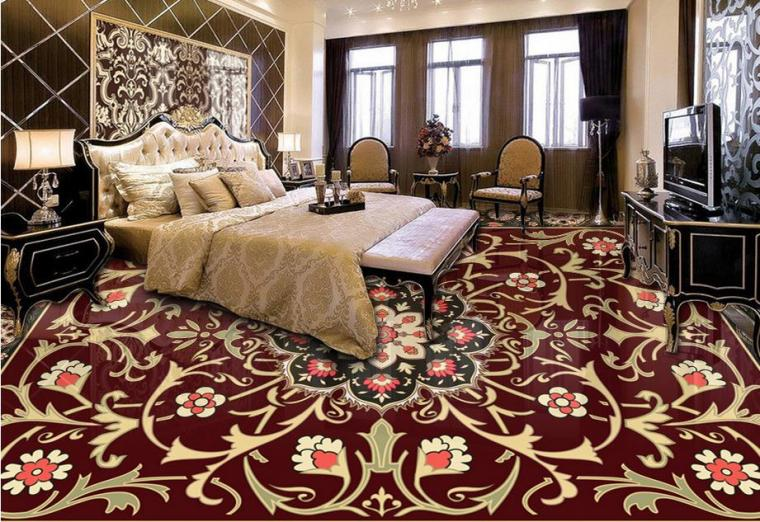 HD European 3d floor photo wallpaper Custom Marble carpet pattern
