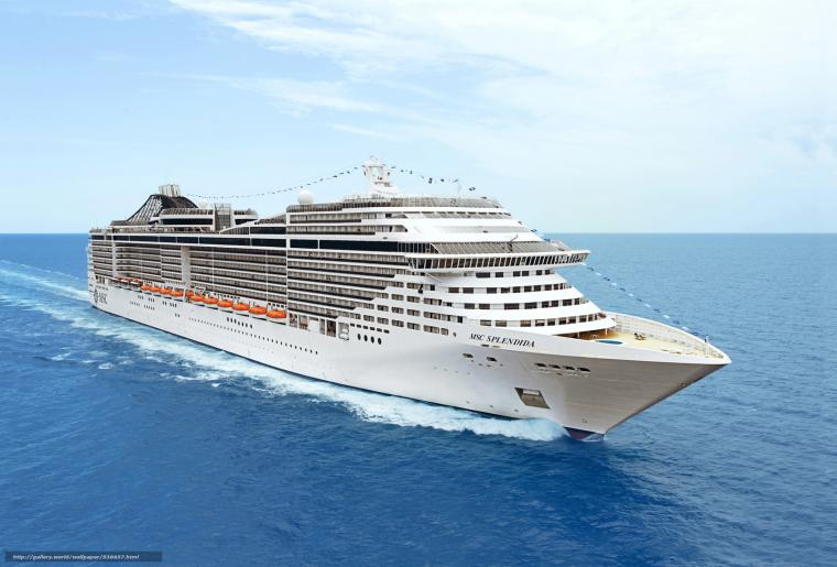 Download wallpaper MSC Splendida Cruise Ship desktop wallpaper