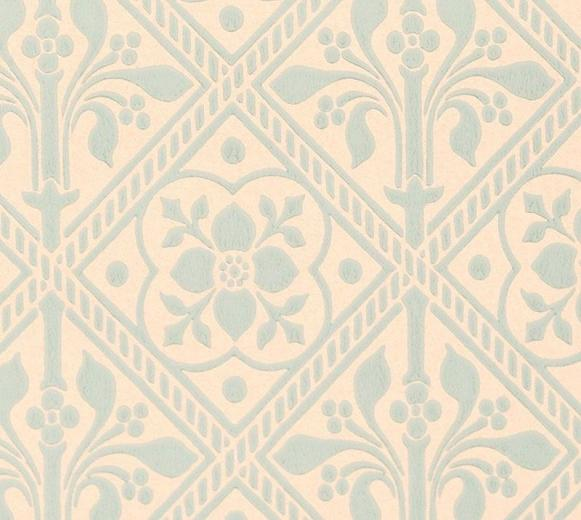 Trellis Wallpaper   Gummer Blue   Historical wallpapers collection