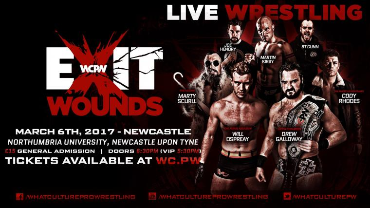 WCPW Exit Wounds Results Drew Galloway VS Will Ospreay WCPW World