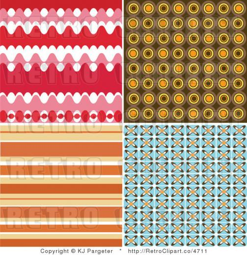 Royalty Retro Colorful Background Patterns by KJ Pargeter   4711