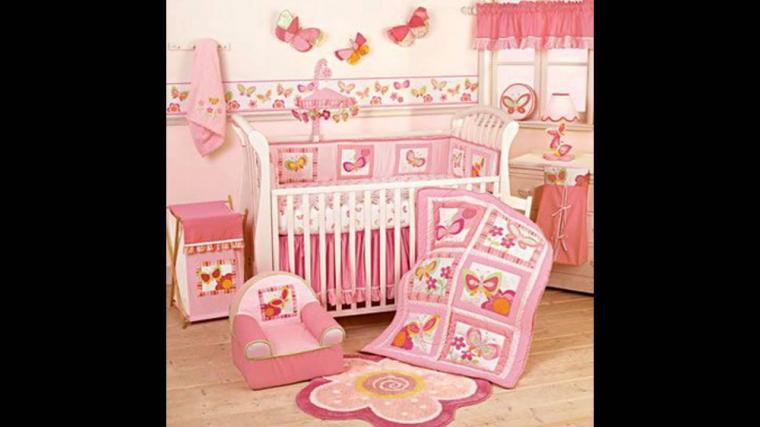 Baby room Wallpaper border decor ideas