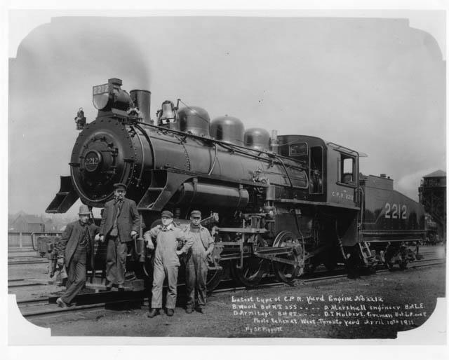 wwwtrainweborgoldtimetrainsCPR Lambtonyard engines steamhtm
