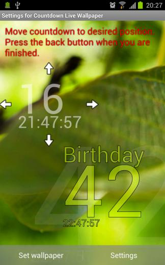 Countdown Live Wallpaper Trial   Android Apps on Google Play