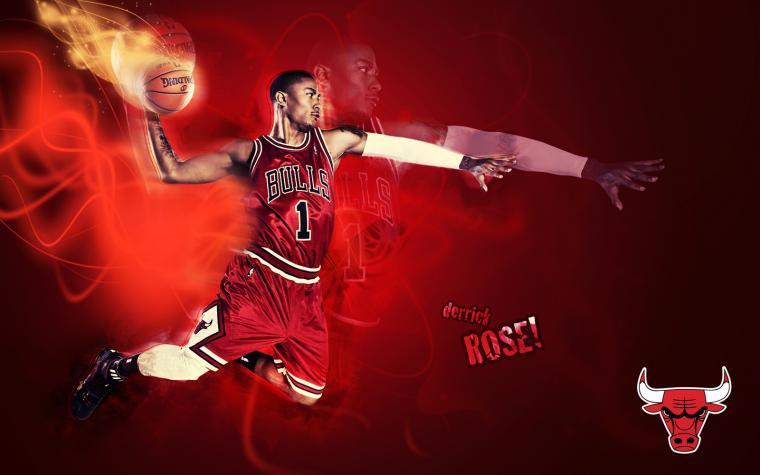 Wallpapers Derrick Rose Dunk Chicago Bulls Wallpaper