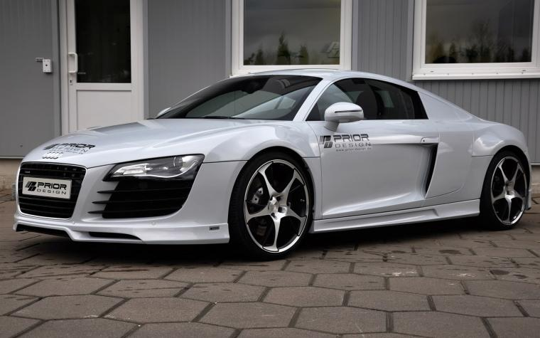 Wallpaper audi r8 carbon limited edition prior design engine tuning