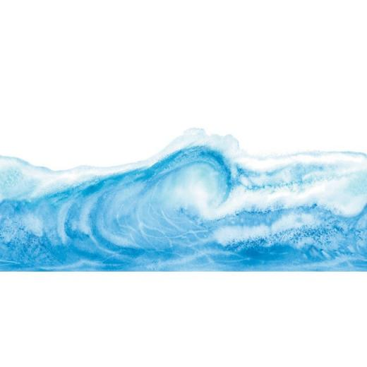 Ocean Wave Waves Laser Cut Wallpaper Border   All 4 Walls Wallpaper