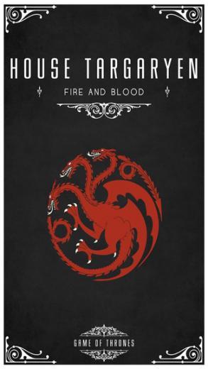 Game Of Thrones   House Targaryen iPhone 5C 5S wallpaper