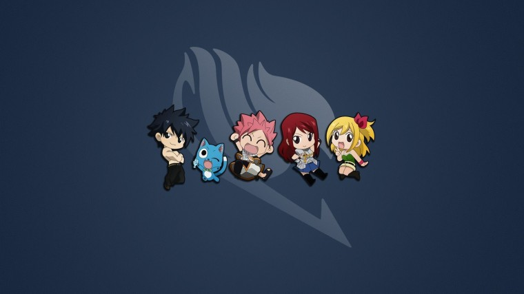 Cute Fairy Tail characters wallpaper 14381