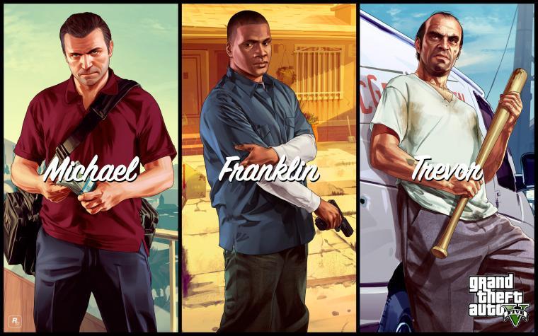 Download GTA 5 Michael Franklin Trevor HD Wallpaper 3781 Full Size