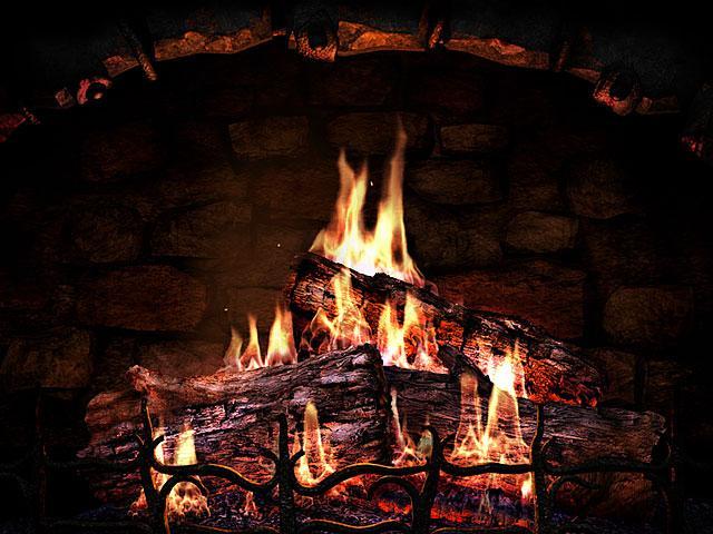 3D Screensavers   Fireplace   Real fireplace at your desktop