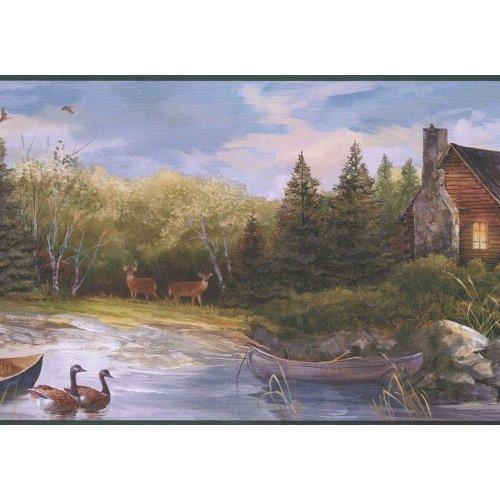Hunting Cabin Wallpaper Border in York Border Gallery