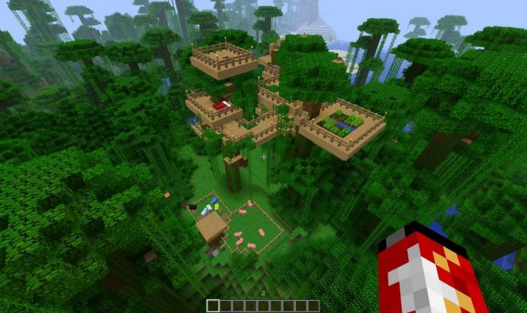 Minecraft Jungle House Wallpaper Size 1280x761 AmazingPictcom