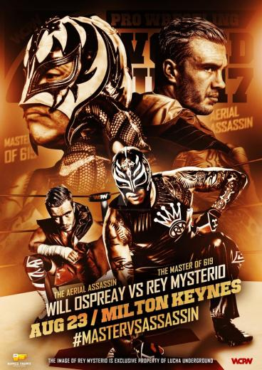 WCPW  Rey Mysterio vs Will Ospreay Official poster by Ahmed Fahmy