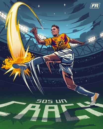Juan Fernando Quintero Ilustracin Illustration FIFA World Cup