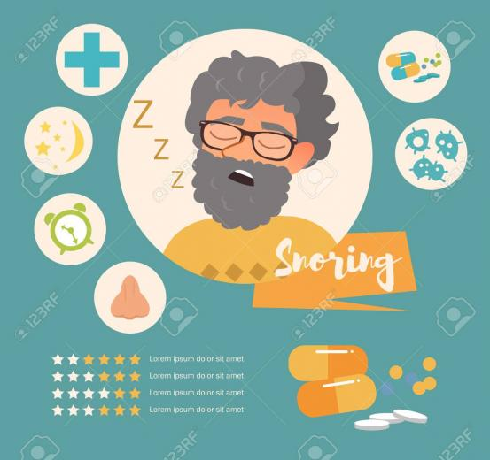 Snoring Vector Art On A White Background Royalty Cliparts