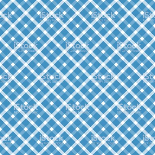 Seamless Blue White Checkered Oktoberfest Background Stock